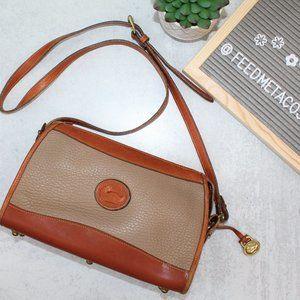 Vintage Dooney & Bourke Gray Brown Crossbody Bag